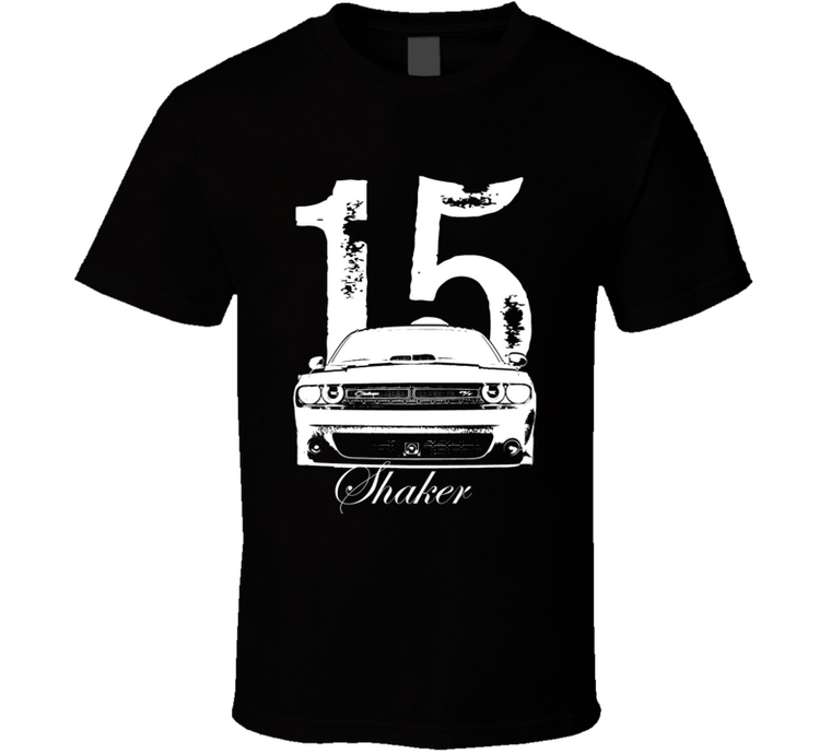 2015 Challenger Shaker Grill With Year and Model Dark Shirt-Car Geek Tees