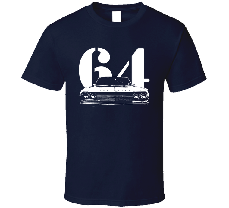 1964 Chevelle Grill View With Year Dark T Shirt-Car Geek Tees