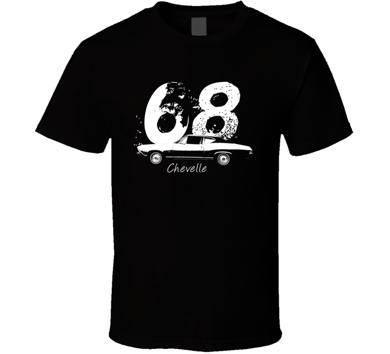 1968 Chevelle Side Year Model Dark Color T Shirt-Car Geek Tees