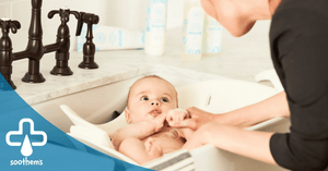Baking Soda therapy bath for eczema baby