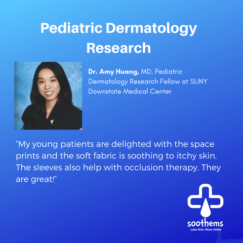 Amy Huang, MD, Pediatric Dermatology Research Fellow Eczema Soothems Clothing Clinical Trial