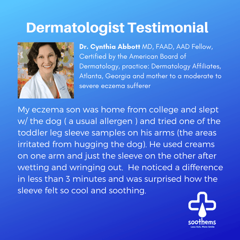 Dr. Cynthia Abbott MD, FAAD, AAD Fellow, Certified by the American Board of Dermatology Eczema Soothems Clothing Sleepwear Psoriasis