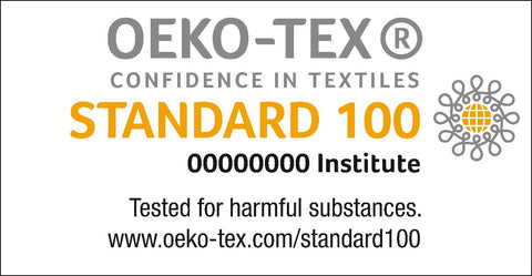 OEKO-TEX® is an independent product label for all types of textiles tested for harmful substances – from yarns and fabrics to the ready-to-use items that you can buy in the shops.