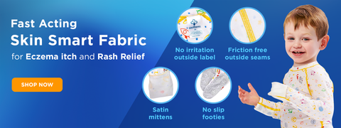 Eczema fabric treatment using Zinc Oxide Wet Wrapping Itch Control