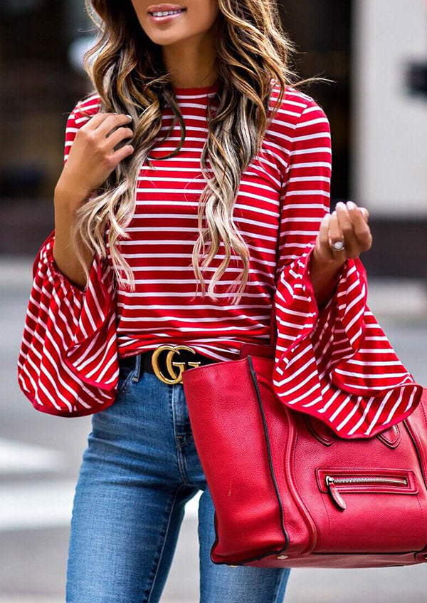 aa198a081ce4a Red and White Stripe Top