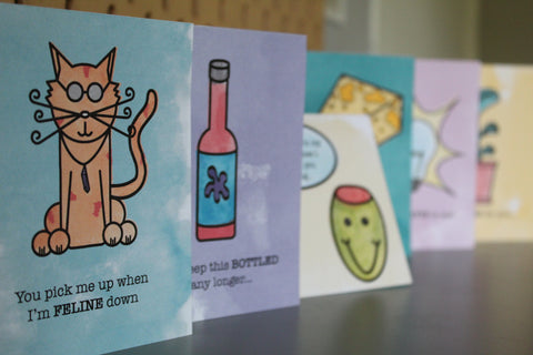 PUN PAL CARDS - Original 6 Pack