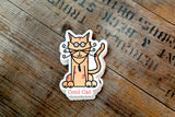 COOL CAT- STICKER