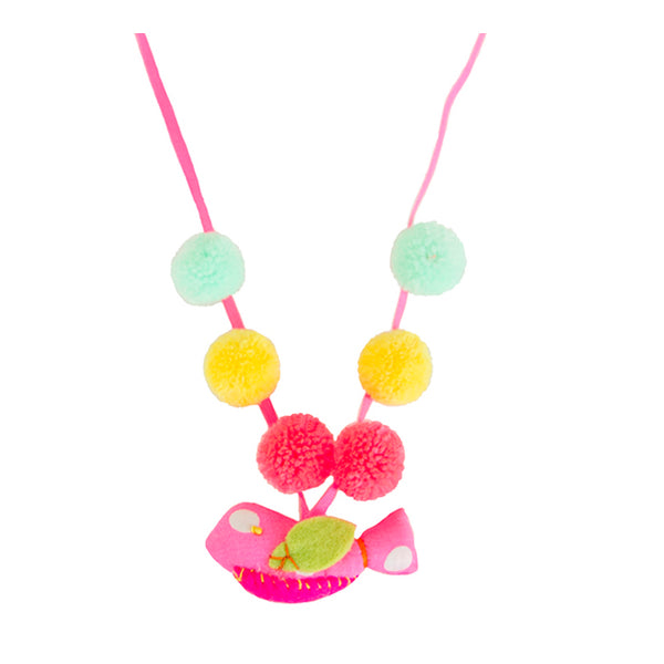 Pink Dot Birdie necklace