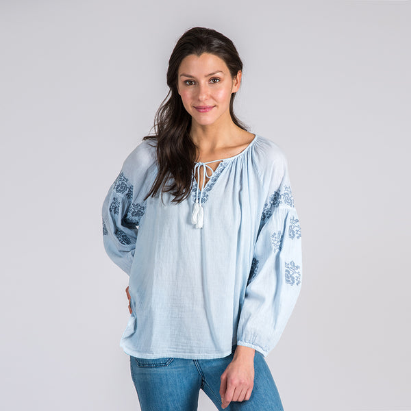 Tulum Blouse Sea