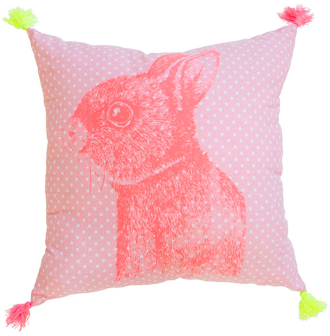 Pink Dot Bunny Pillow