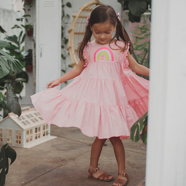Peach Nola Dress