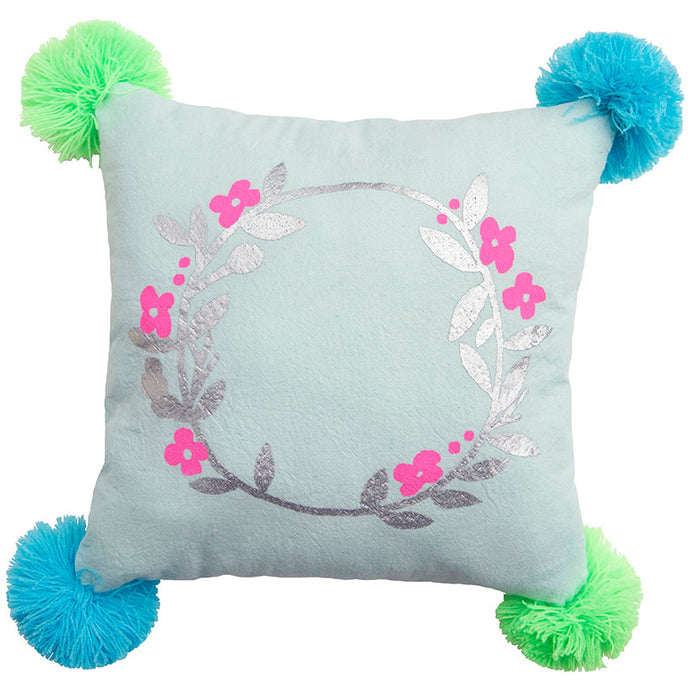 Wreath Pompom Pillow