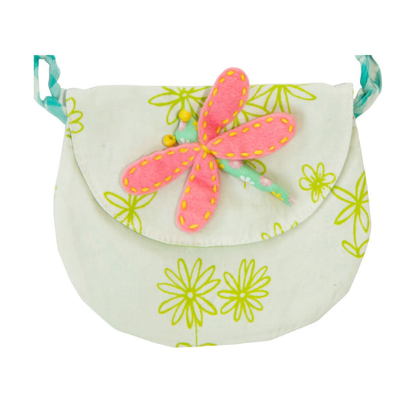 Green dragonfly purse