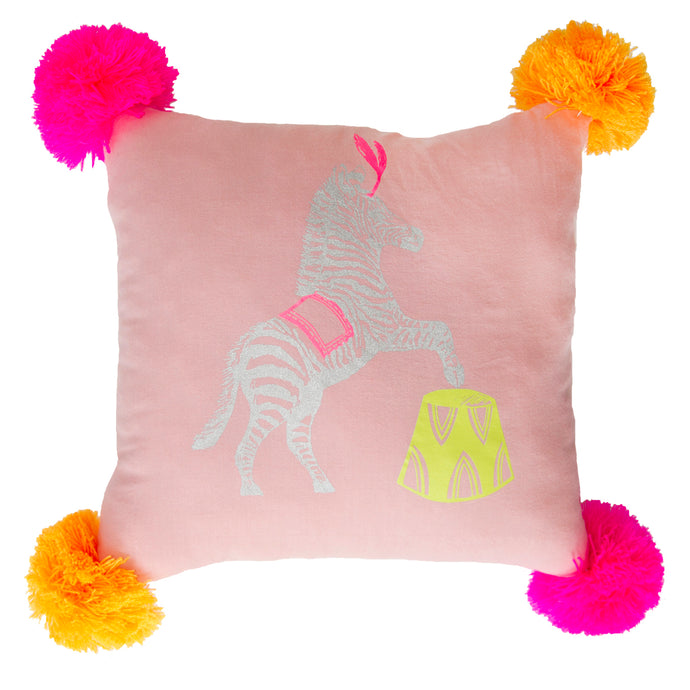 Pink Zebra Pillow