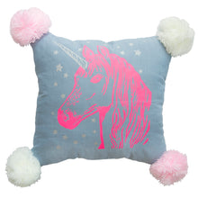 Chambray Unicorn Pillow