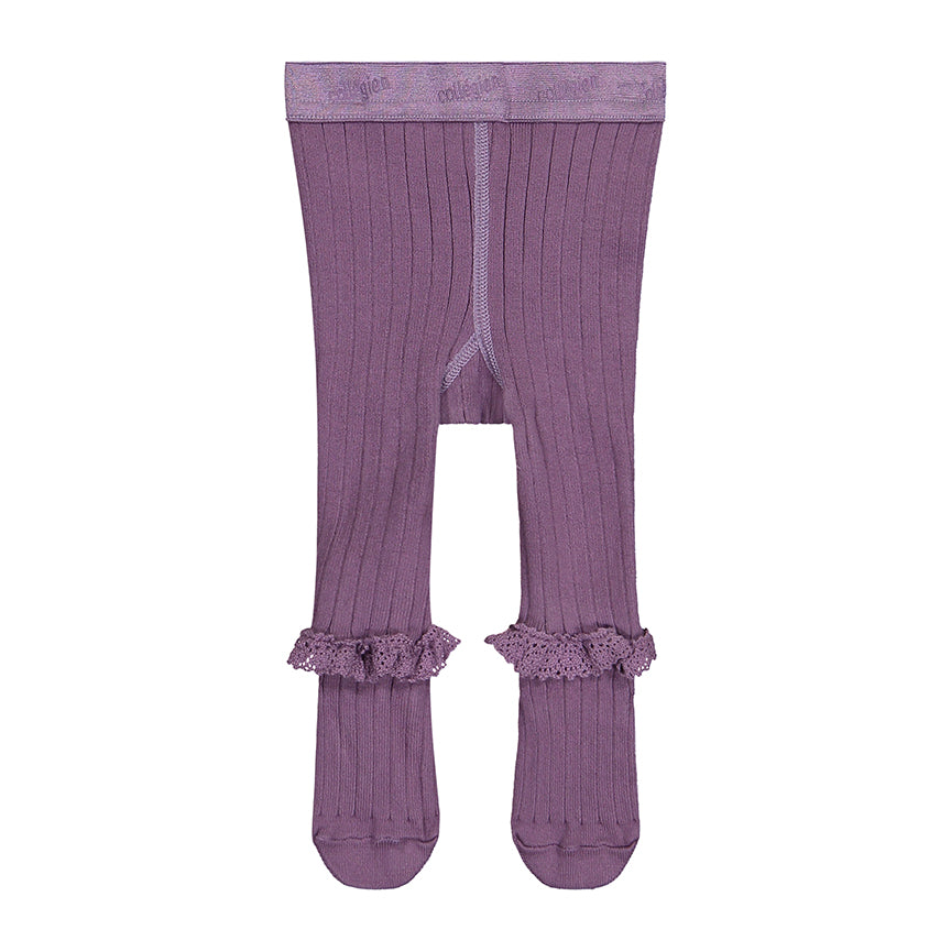 Ruffle Tights Orchid