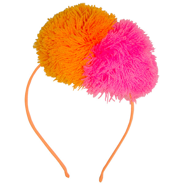 Fun Fuzzy Pompom Headband