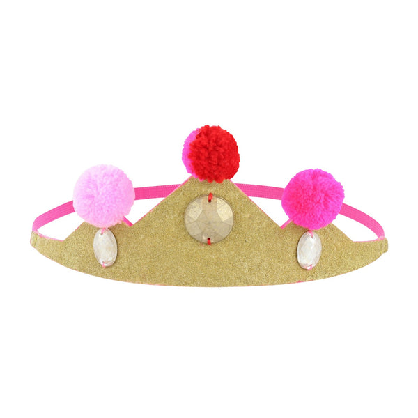 Gold Pompom Crown