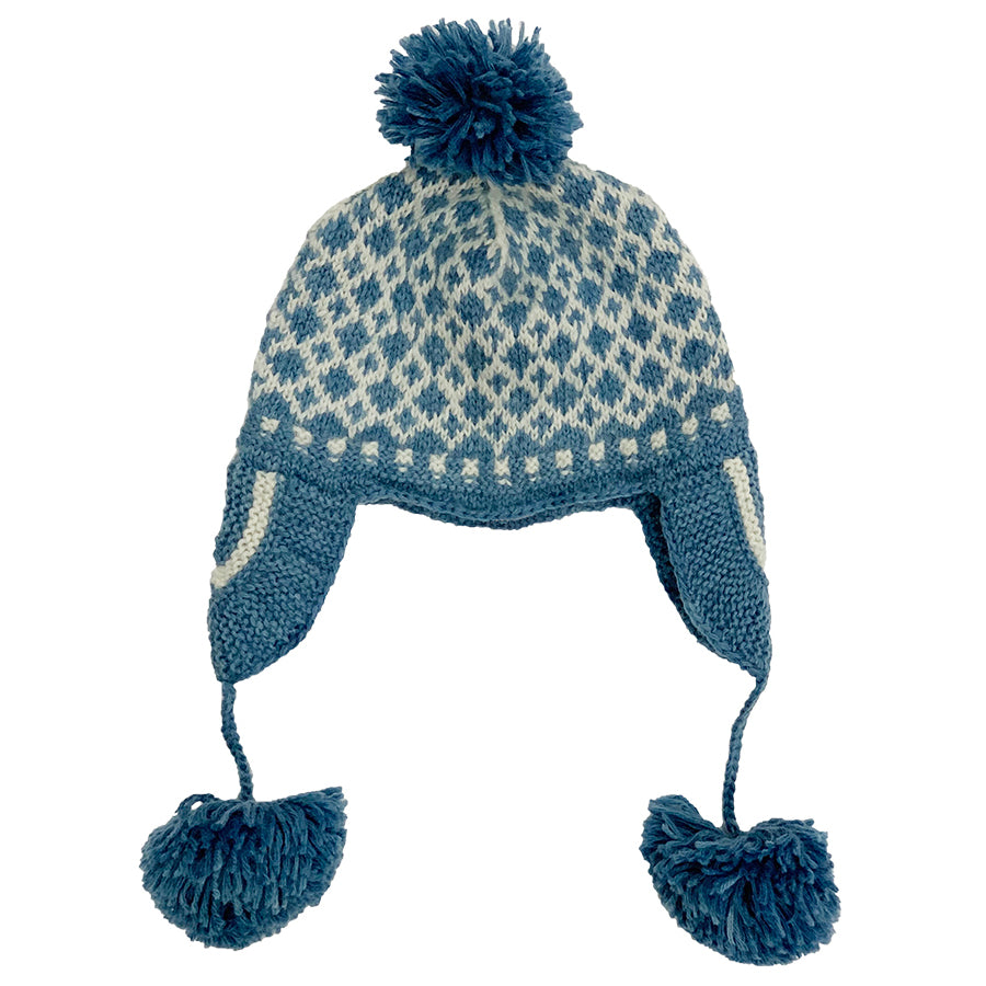 Hand Knitted Blue Hat