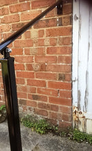 DISCONTINUED Wrought Iron Style Exterior Handrail With One Concrete In Post - POWDER COATED