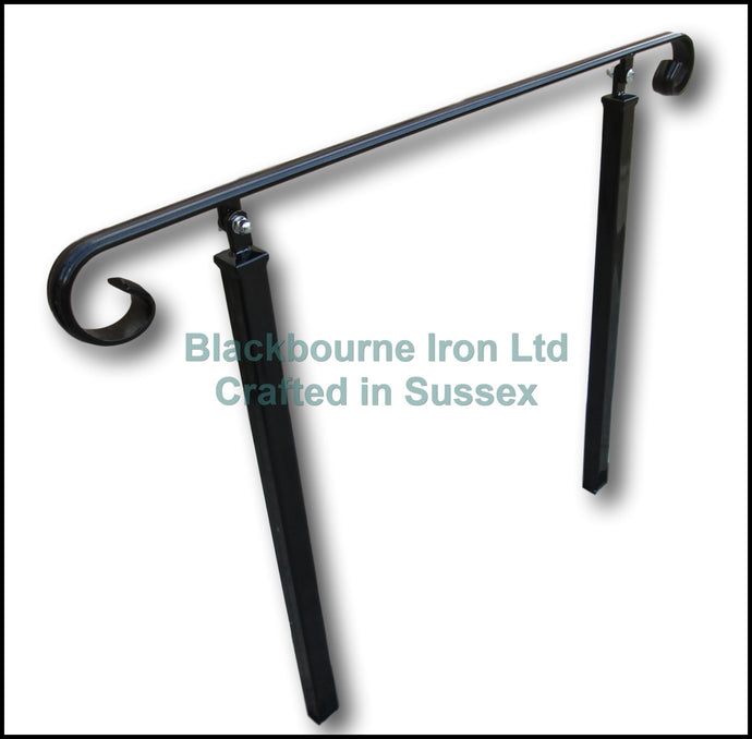 Wrought Iron Style Decorative Handrail on Two Concrete in Posts - Adjustable