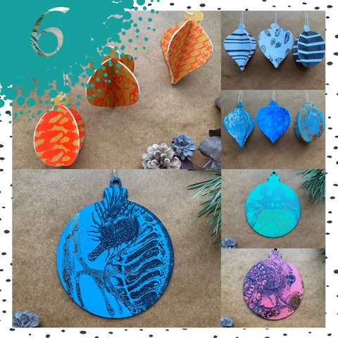 Handprinted Large and 3D wooden Nautical Decorations