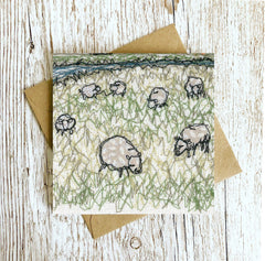 The Marsh Embroidery Card