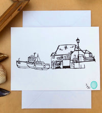 The Old Look Out & Boats Print