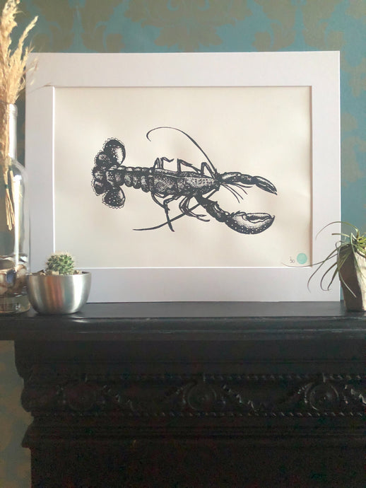 Legolas the Lobster Print (Mounted)