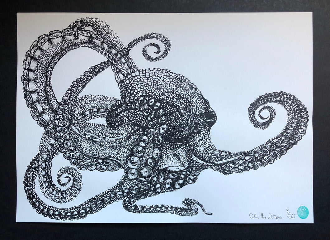 Ollie the Octopus - Unmounted Print