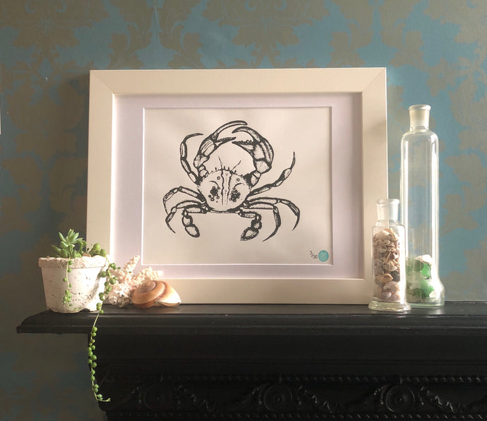 Mounted Crab Picture - A3
