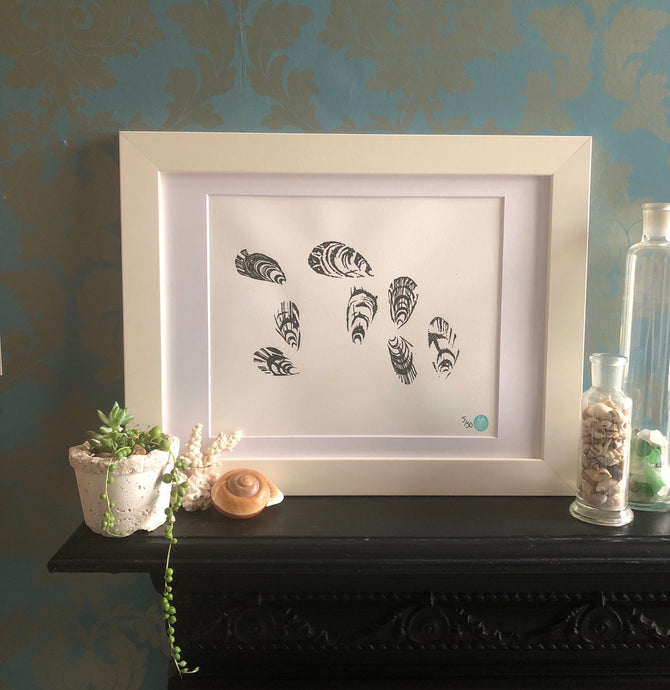 Mounted Mussel Picture - A3