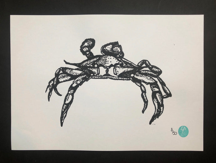 Unmounted Happy Crab - A4