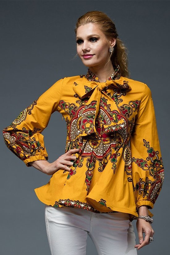 Dashiki Peplum Top - Bailey Sayge