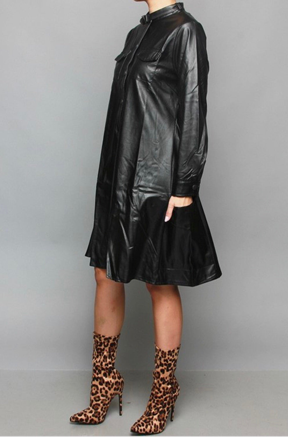 Trinity Vegan Leather Dress