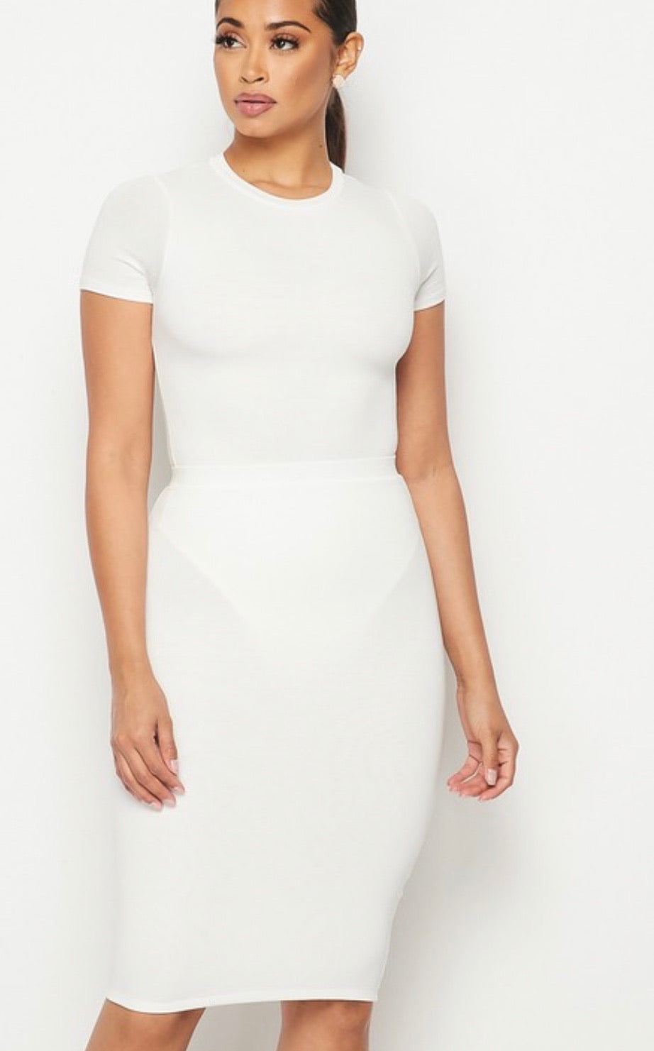 Essential T-Shirt and Pencil Skirt Set