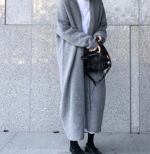 Long Oversized Knit Cardigan