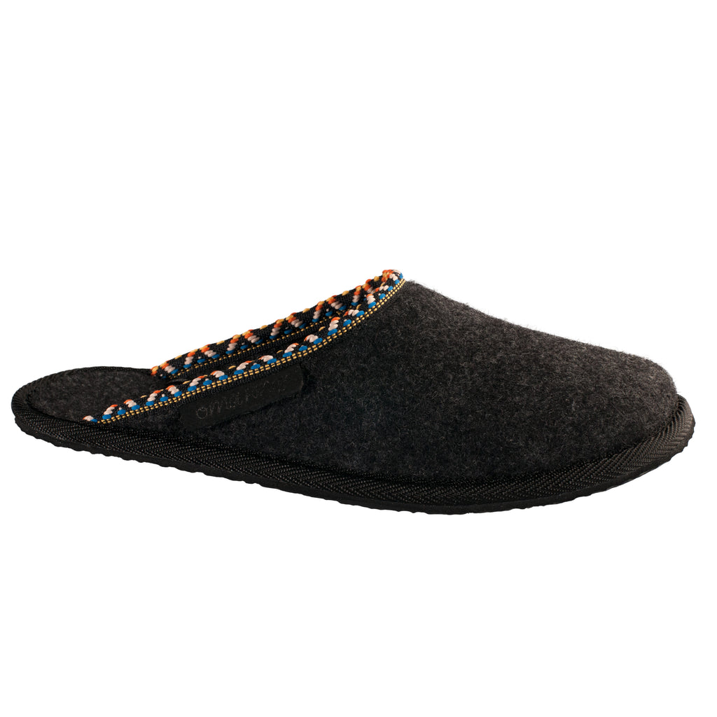 Unisex woolen slippers HALLA, dark grey