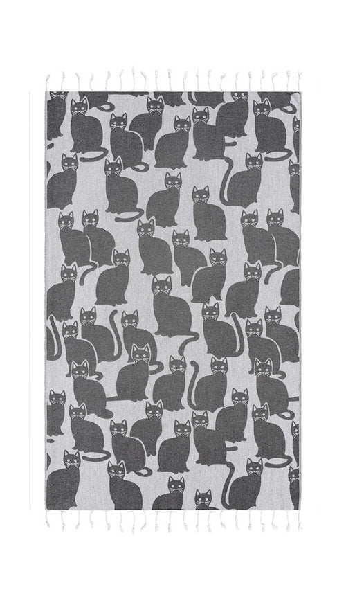 Cat Charcoal Towel