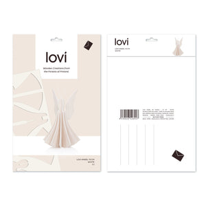 Angel by Lovi L size card. Color white