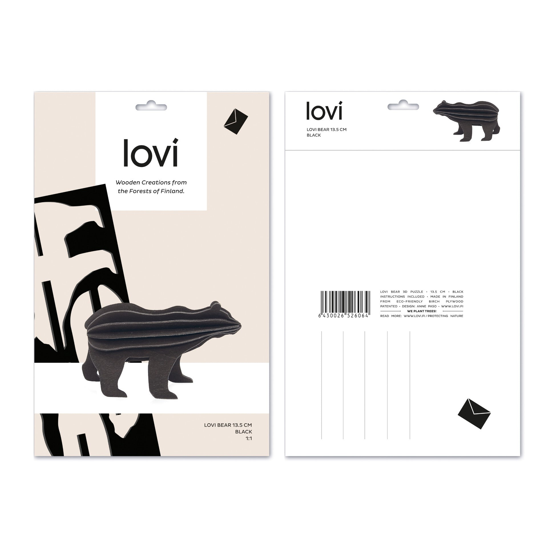 Bear by Lovi, L size card