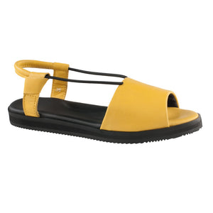 Womens leather sandals Berlin, yellow