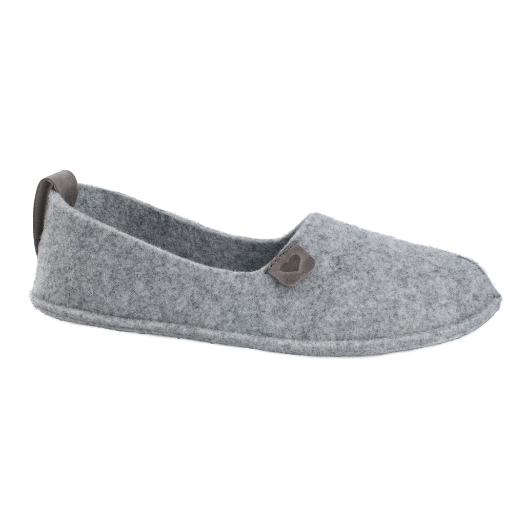 Women's woolen slippers HALL, grey