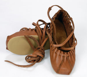 Traditional leather PASTALAS with insole