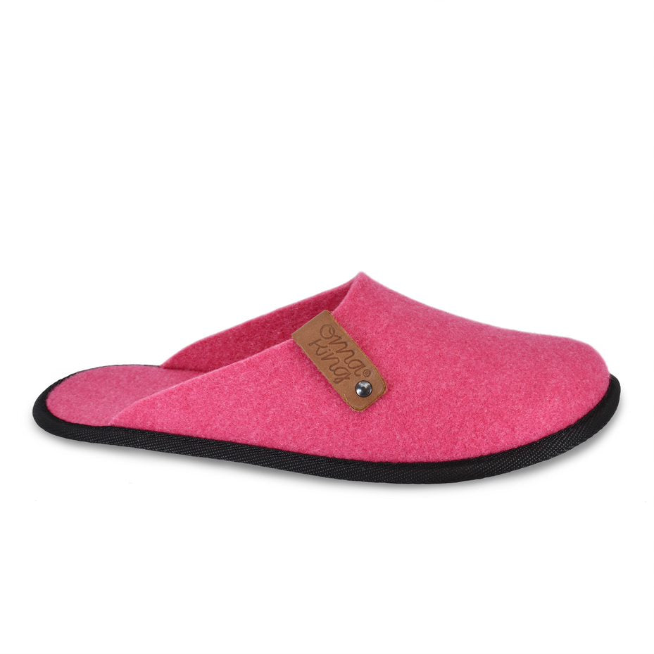 Recycled felt slippers Ranna Pink