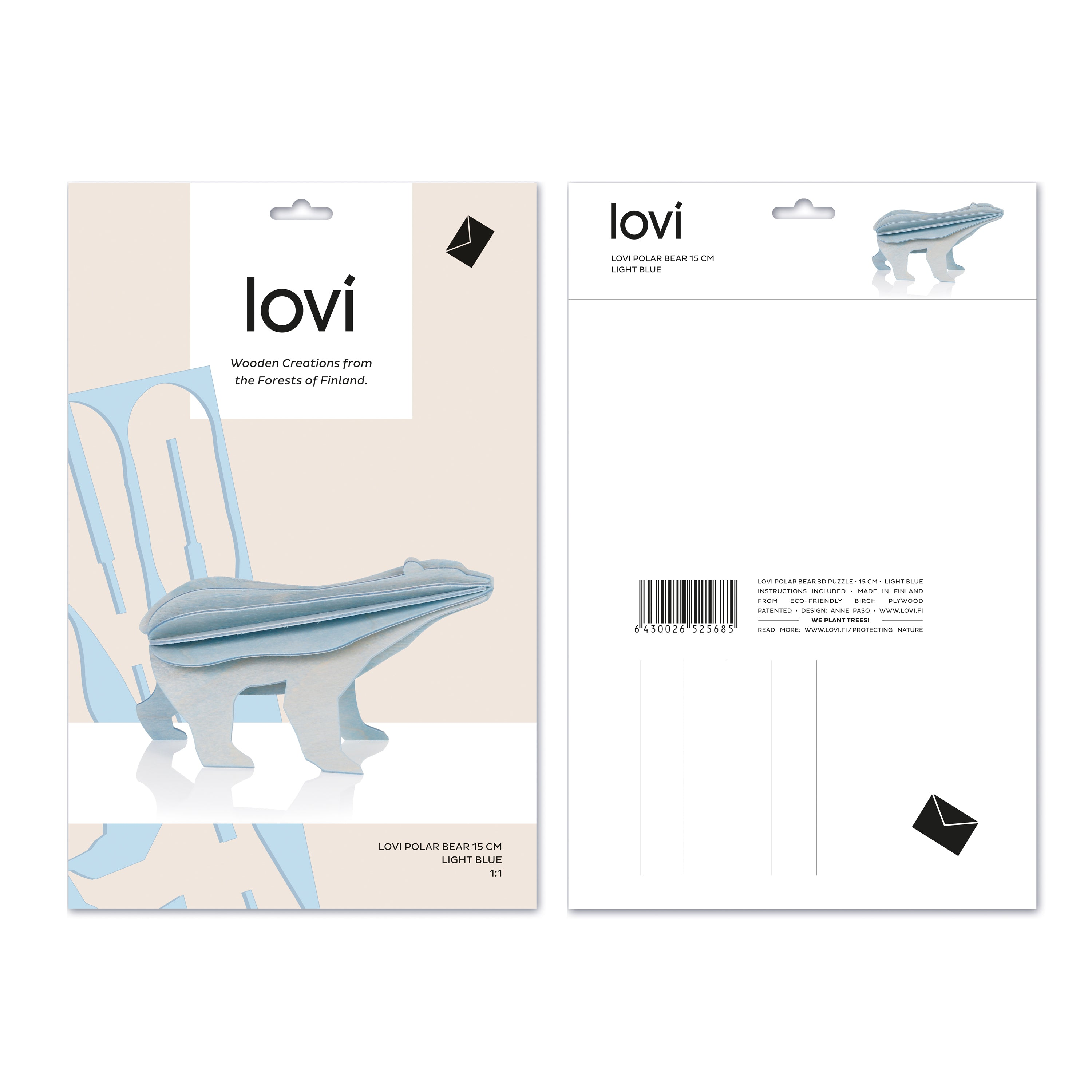 Polar Bear by Lovi, L size card
