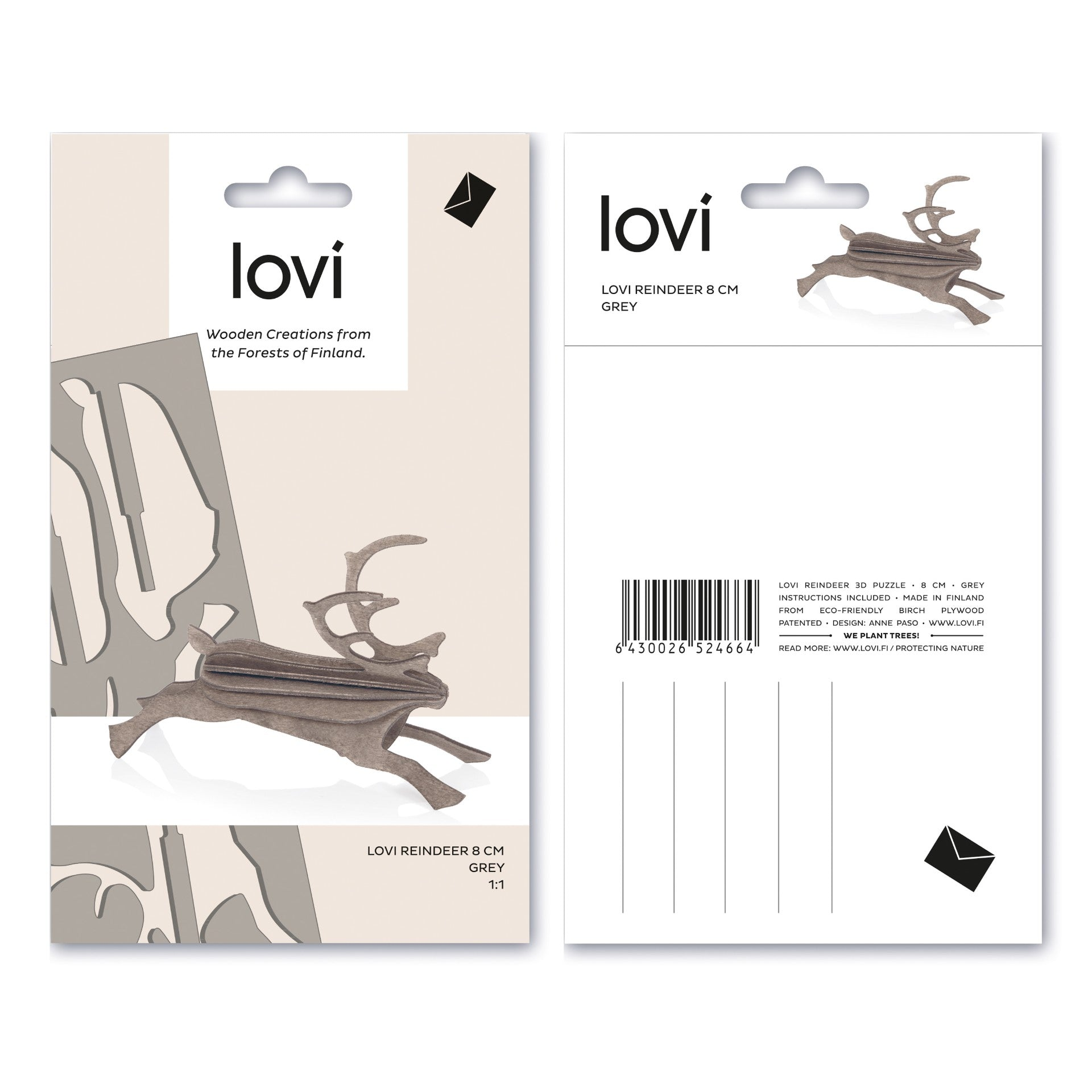 Reindeer by Lovi, S size card