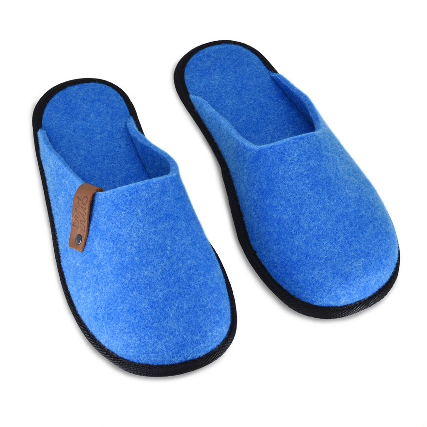 Recycled felt slippers Ranna Blue