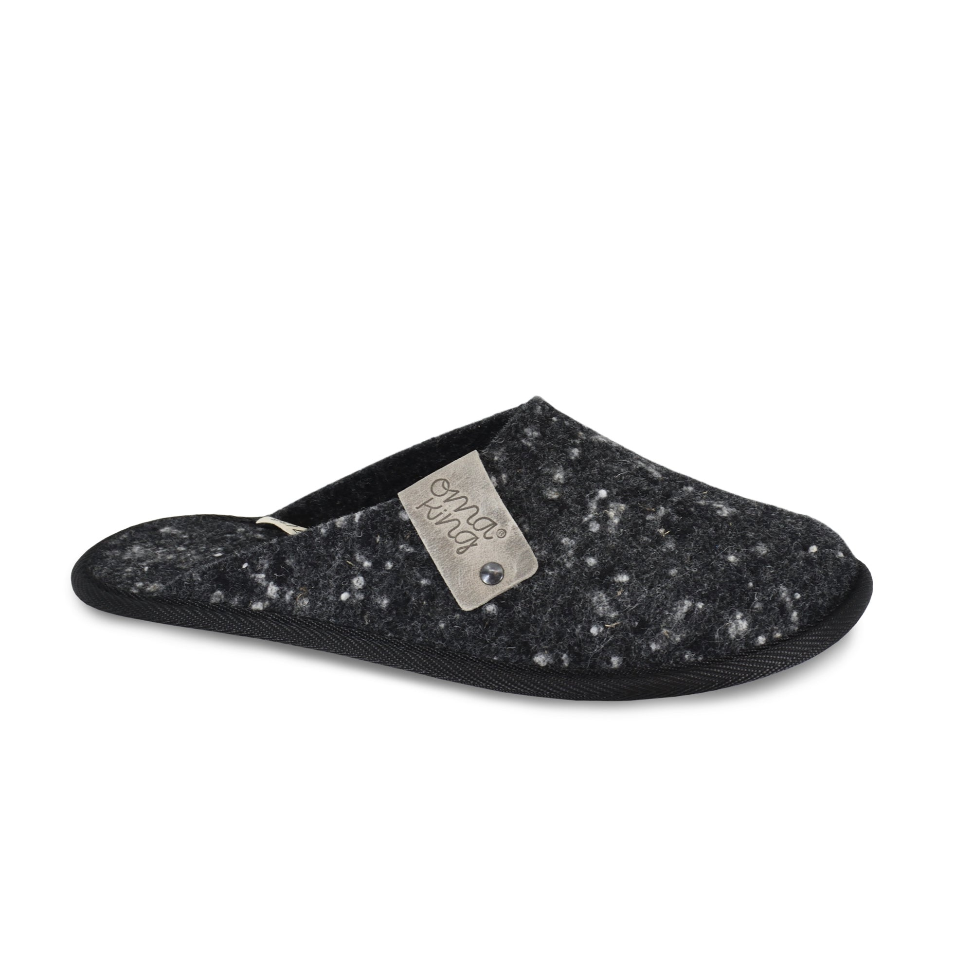Unisex woolen slippers DOT, dark grey