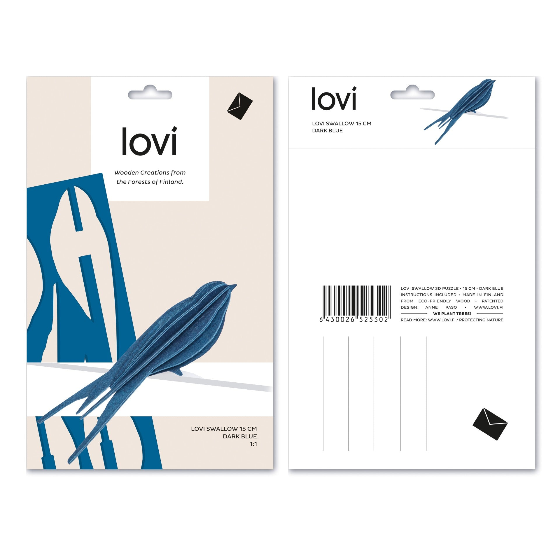 Swallow by Lovi, M size card
